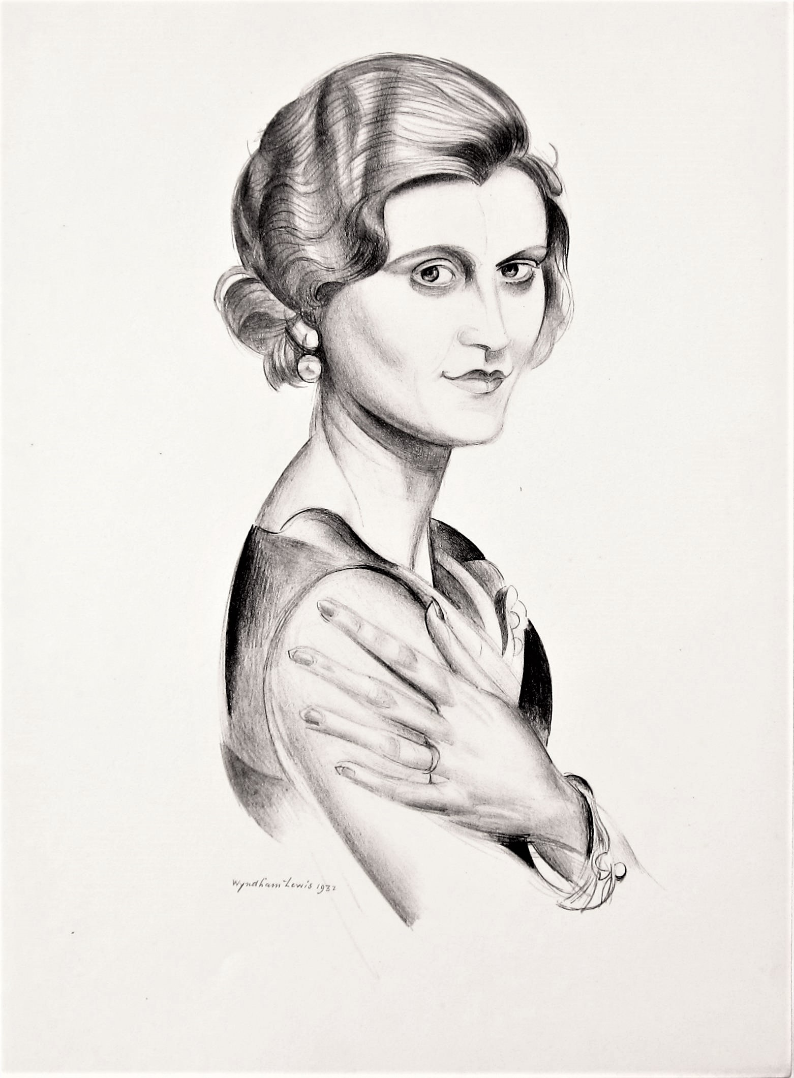 WYNDHAM LEWIS [1892-1957]. Miss Marie Ney, 1932. lithograph, edition of 200, 190/200; printed in