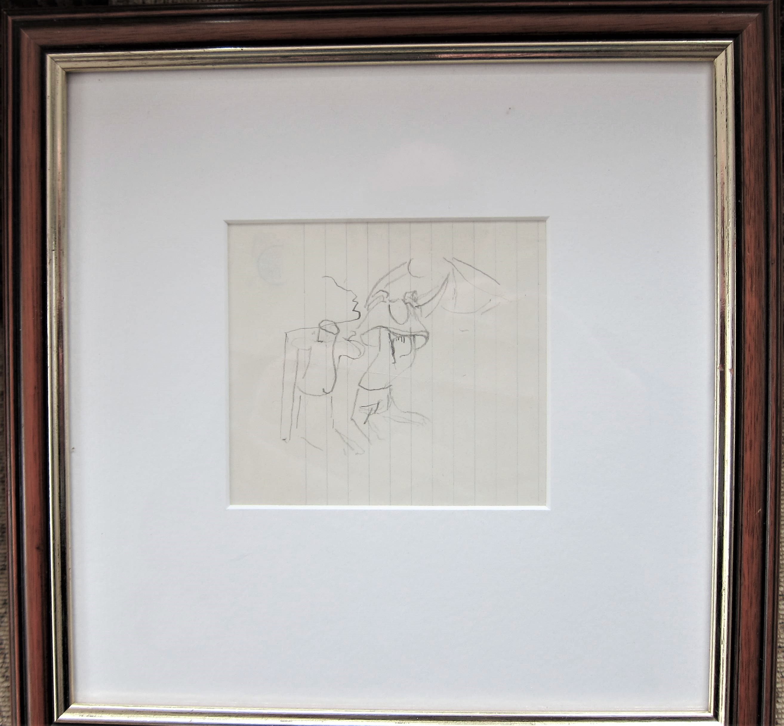 STANLEY SPENCER R.A. [1891-1959]. Figure Study. pencil on paper. studio stamp on reverse. 11 x 12 cm - Image 2 of 2