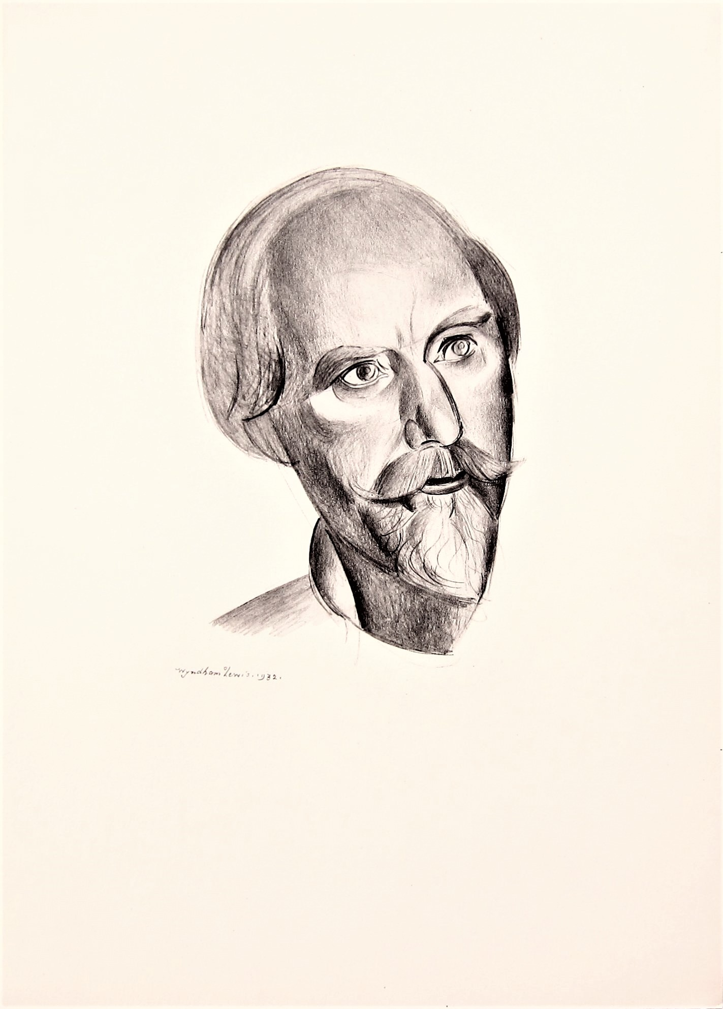 WYNDHAM LEWIS [1892-1957]. Augustus John, 1932. lithograph, edition of 200, 81/200; printed in 1932.