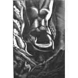 LEON UNDERWOOD [1890-1975]. Falling Figure [Music...], 1926. wood engraving, edition of 25; 1/25.