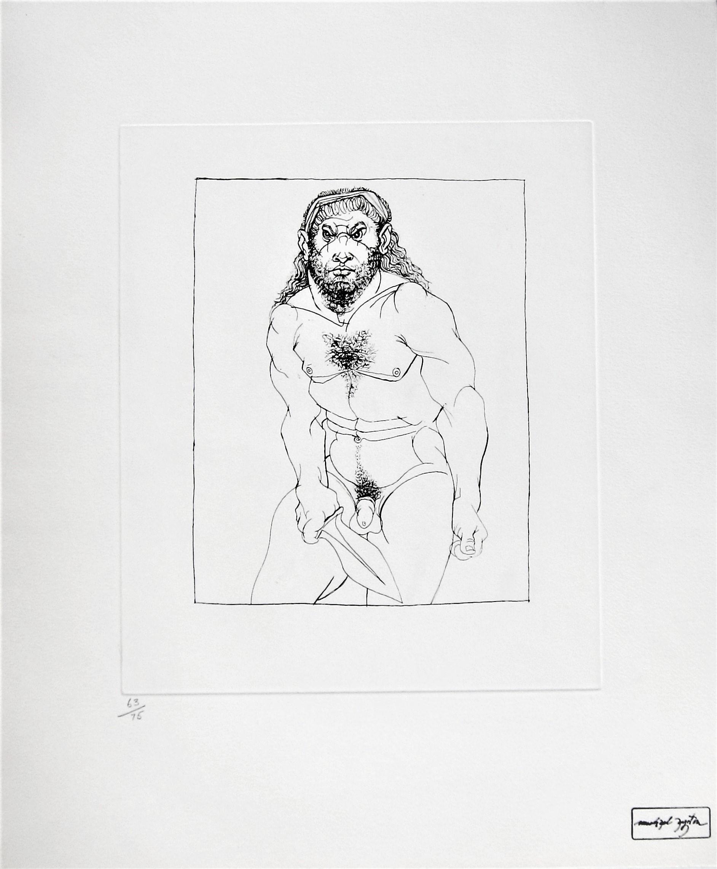 MICHAEL AYRTON [1921-75]. Archilochos Alone, 1975. etching, edition of 75; 70/75; studio stamp