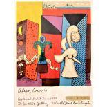 ALAN DAVIE R.A. [1920-2014]. Magic Pictures, 1979. poster for the Edinburgh Festival exhibition,