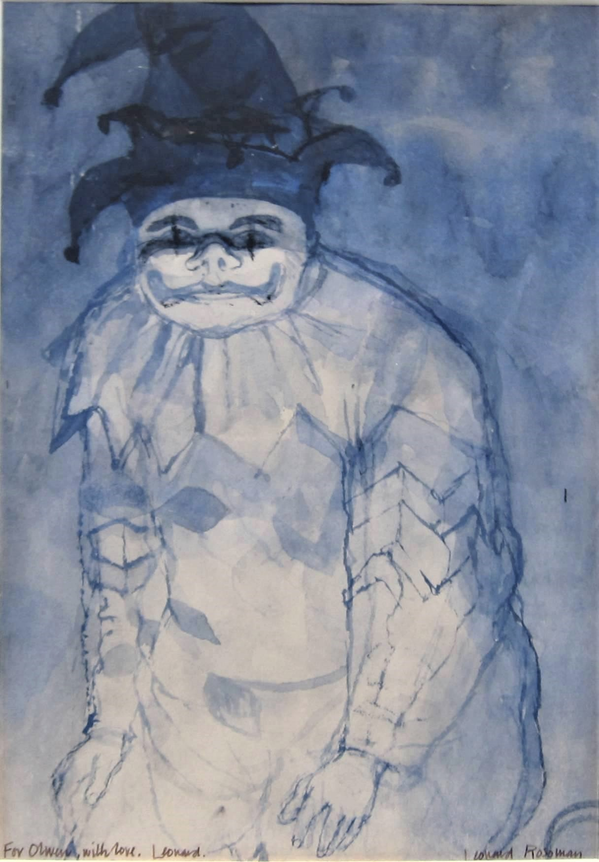 LEONARD ROSOMAN R.A. [1913-2012]. The Fool. watercolour and ink on paper. signed. 25 x 17 cm [