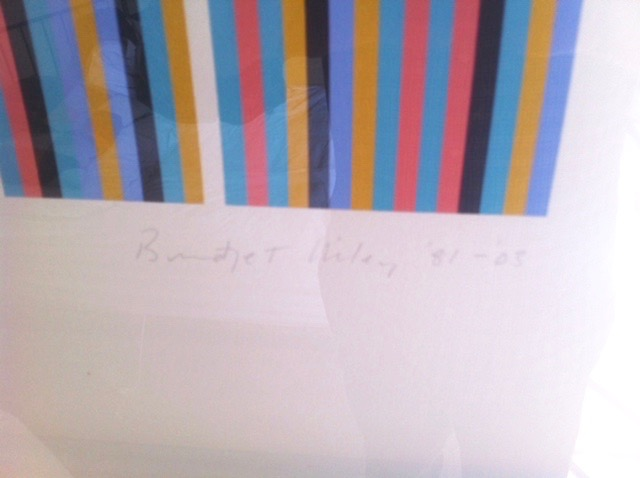 BRIDGET RILEY RA [b.1931]. Edge of Light '81-'03. Screenprint on wove pape, signed, titled, dated - Image 2 of 4