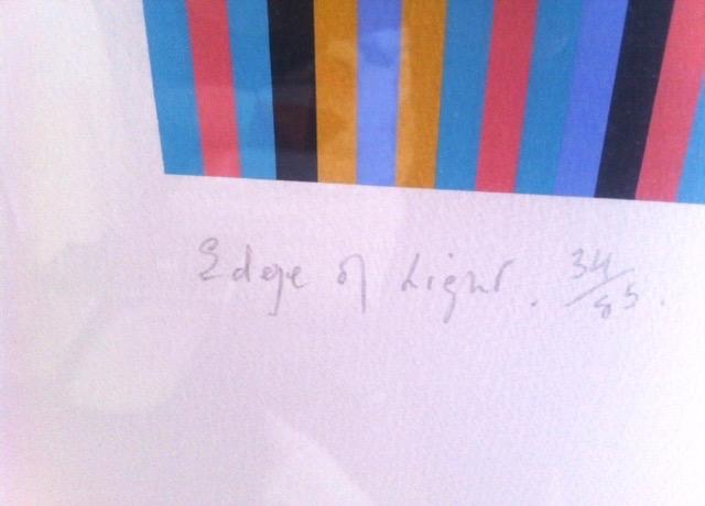BRIDGET RILEY RA [b.1931]. Edge of Light '81-'03. Screenprint on wove pape, signed, titled, dated - Image 3 of 4