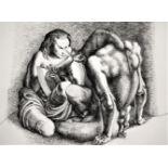 MICHAEL AYRTON [1921-75]. Minotaur - Revealed, 1971. etching, edition of 75, 41/75. studio stamp