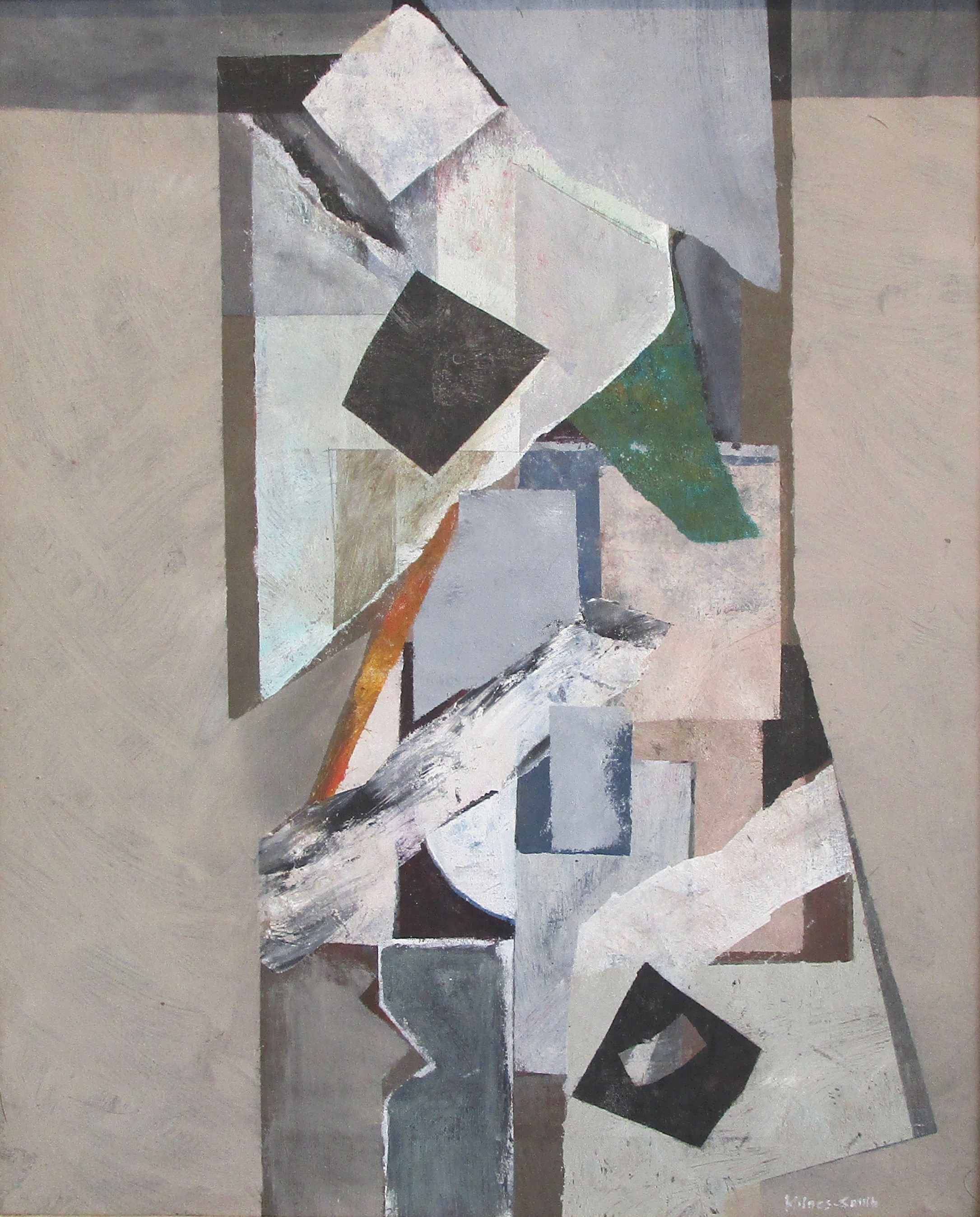 JOHN MILNES-SMITH [1912-1998]. Centre Piece, 1986. Oil on canvas. Signed lower right, titled and