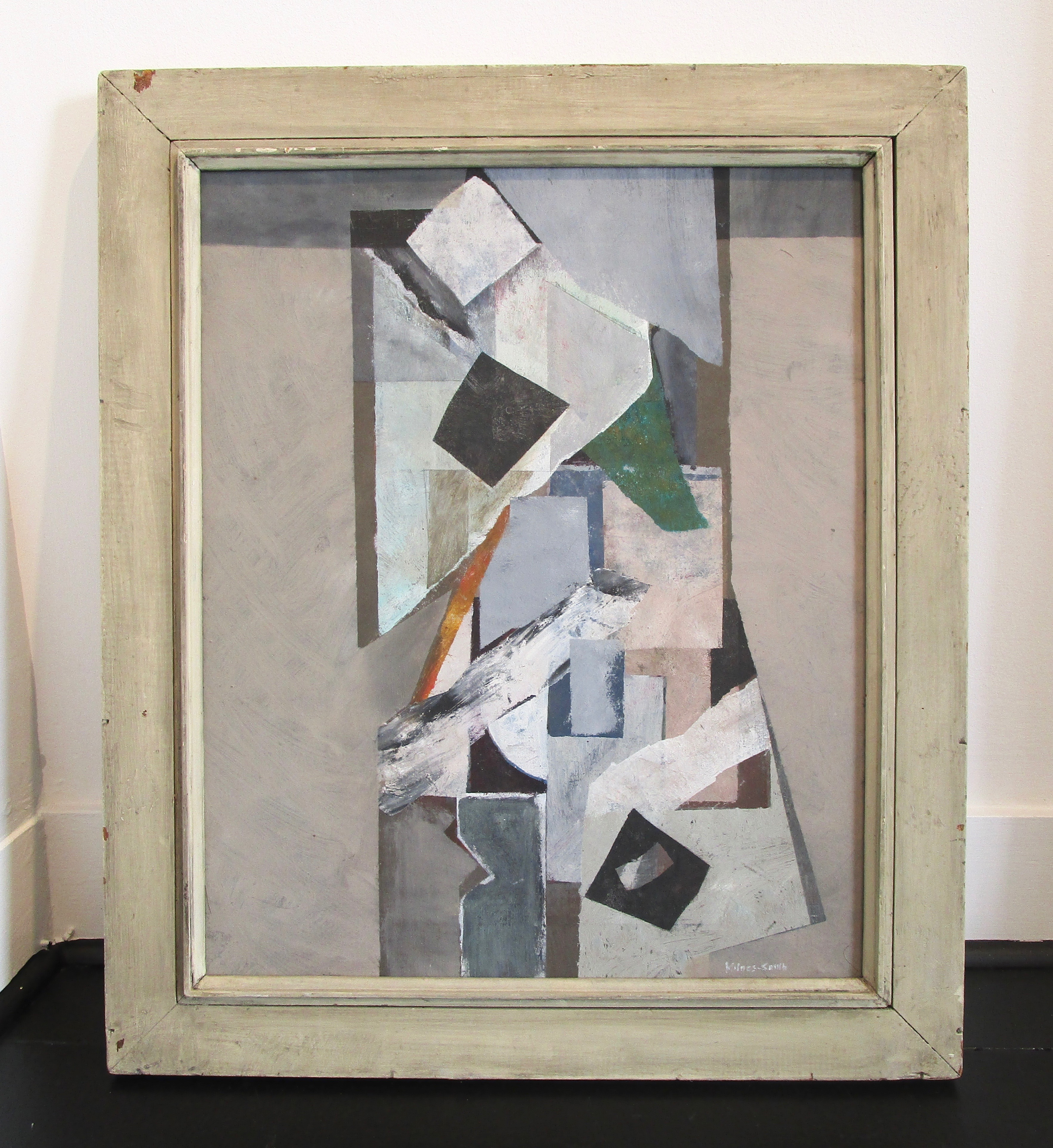 JOHN MILNES-SMITH [1912-1998]. Centre Piece, 1986. Oil on canvas. Signed lower right, titled and - Image 2 of 3