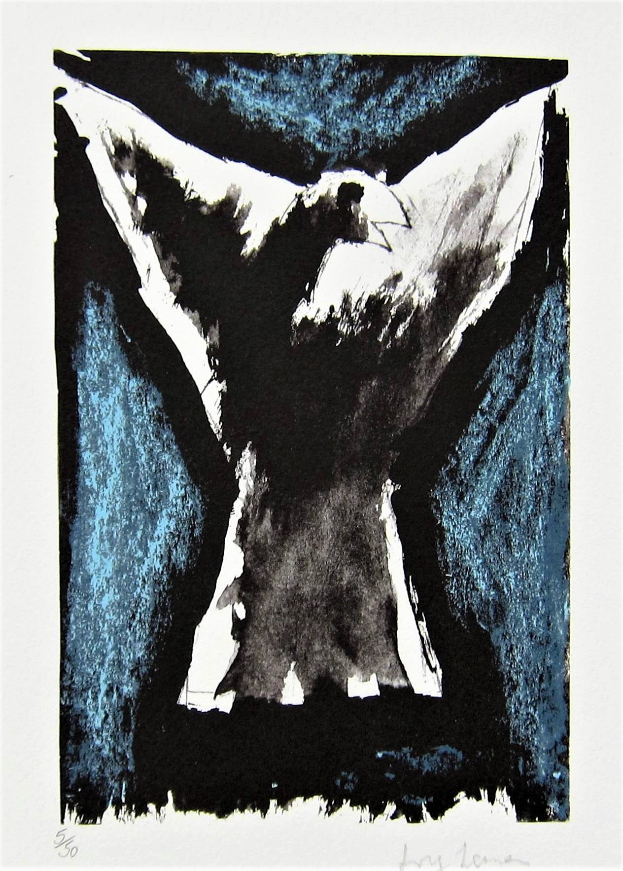 JOSEF HERMAN, R.A. [1911-2000]. Bird [Objects.], 1999. lithograph, edition of 50; 5/50 - signed in