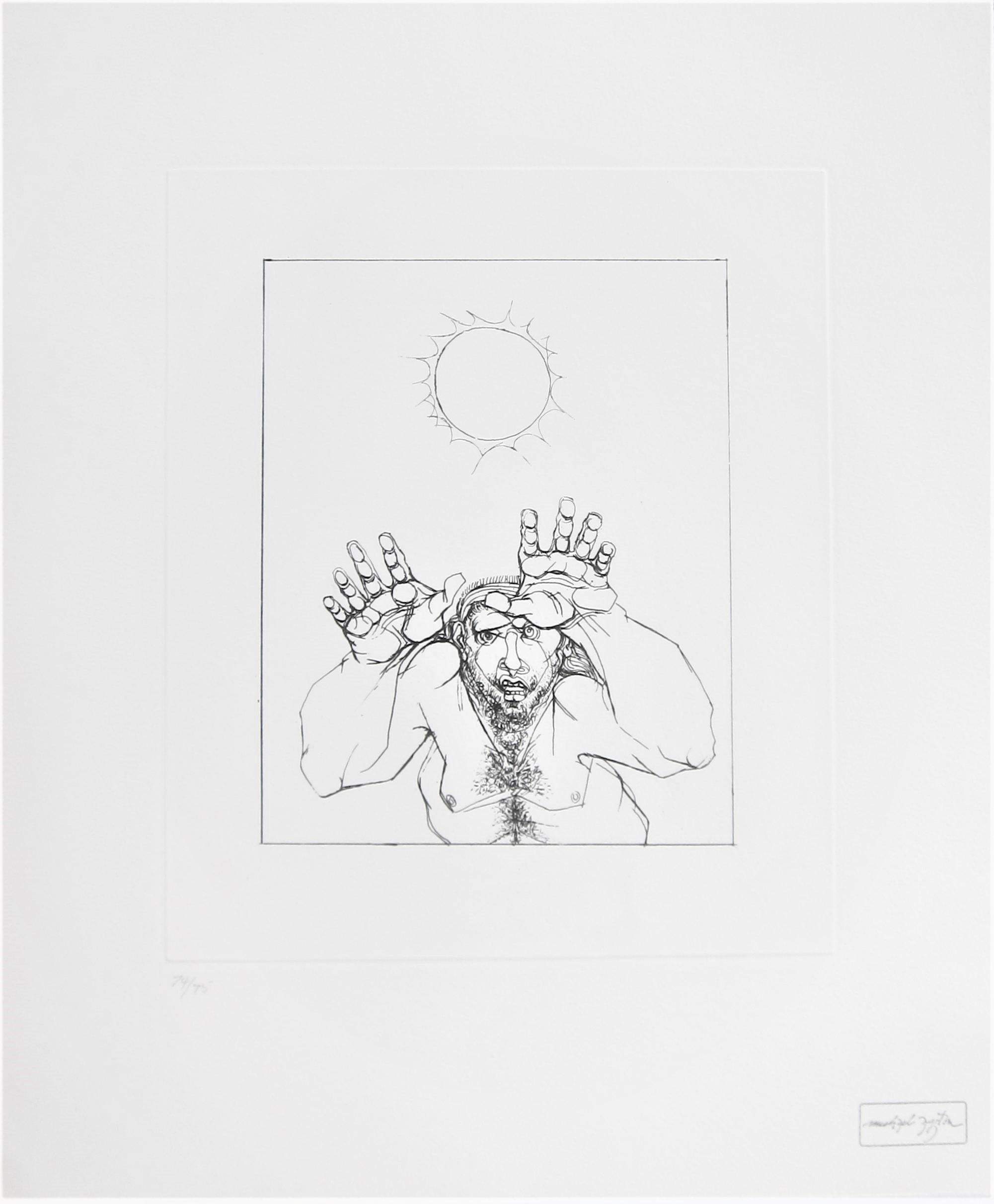 MICHAEL AYRTON [1921-75]. Archilochos Eclipse, 1975. etching, edition of 75, 66/75; studio stamp