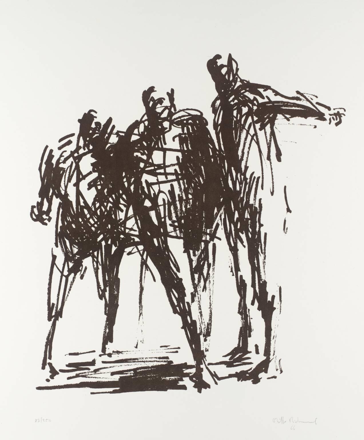 OLIFFE RICHMOND [1919-1977]. Pilot; Marathon; Standing Group, 1966. The set of three lithographs,