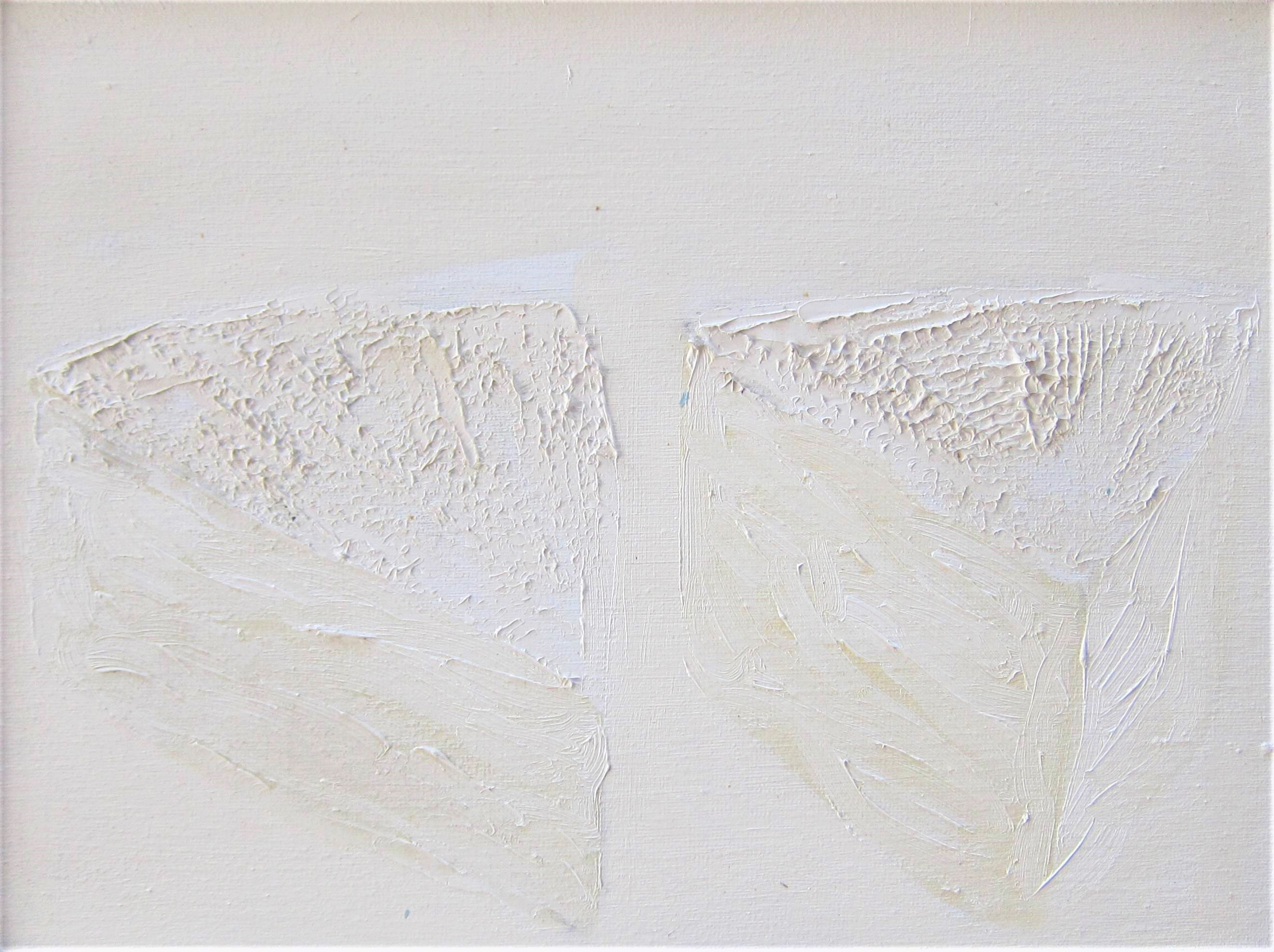 KIT BARKER [1916-88]. 2 Pieces of Brie, 1984. oil on canvas. signed on reverse. 31 x 41 cm - overall