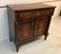 A 19th Century Dutch mahogany and marquetry inlaid side cabinet,