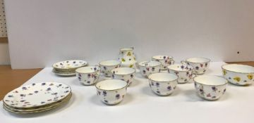 A George V Royal Crown Derby floral spray decorated tea set (Pattern 7766),