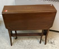 A circa 1800 mahogany commode stool on square chamfered supports (interior altered),
