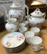 A circa 1900 French floral spray decorated coffee set comprising coffee pot,