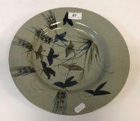 A Highland stoneware elongated octagonal turkey platter, 47.