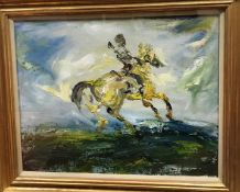 """WITHDRAWN : FOLLOWER OF JACK BUTLER YEATS (1871-1957) """"The Return"""","""