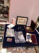 A collection of assorted costume jewellery to include a silver necklace, various silver jewellery,