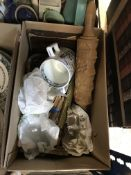Five boxes of assorted sundry china,