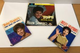 A private collection of HELEN SHAPIRO LPs and ephemera including a scrapbook containing various