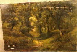 "HERBERT BOND ""Path Through the Woods"", oil on canvas,"