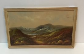 """CIRCA 1900 BRITISH SCHOOL """"Highland landscapes with cattle mid ground by loch side,"""
