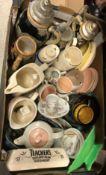 A box containing a Japanese eggshell part tea service,