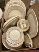 """A collection of Mason's """"Ashlea"""" dinner wares,"""