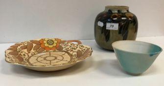 """A Royal Doulton """"Orange"""" pattern vase by Bernie Newberry,"""