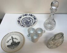 """Two boxes of assorted china and glassware to include Adam's """"Old Colonial"""" and """"Thomas"""" part dinner"""