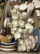A Susie Cooper 'Talisman' part tea set comprising teapot,