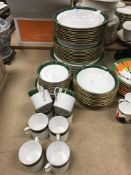 A collection of Spode 'Chardonnay' dinner wares comprising ten dinner plates,