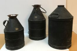 """An early 20th Century iron churn inscribed """"The property of Beol London E16"""","""
