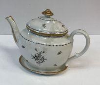 A circa 1800 monochrome and gilt decorat