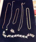 A silver chainlink necklace, 1.56 oz, a
