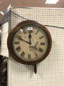 A 19th Century mahogany framed wall dial