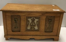 An early 20th Century oak cased polyphon