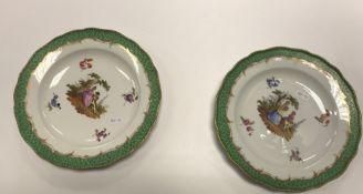 A pair of 19th Century Meissen cabinet p