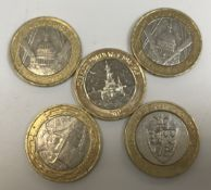 A collection of circulated £2 coins incl