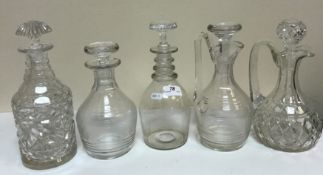 A collection of assorted glassware to in