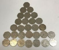"""A collection of 29 x 50p pieces """"Johnson"""