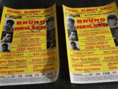 Signed Poster - Boxing at the Royal Albert Hall 5th April 1983 Frank Bruno v Eddie Neilsen.
