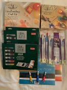 First class art and craft materials including 2 candle making sets,