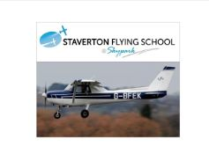 WOW! 30 Minute trial flight lesson in a Cessna 152. Provided by Staverton Flying School.