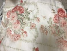 """A Colefax & Fowler """"Lincoln"""" blind, together with matching kingsize valance and matching headboard,"""