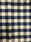 Six Nina Campbell blue and white checked Roman blinds CONDITION REPORTS The sizes of