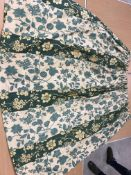 A collection of assorted curtains to include a pair of glazed cotton cream,