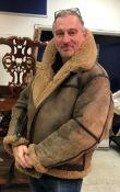 An Irvin RAF sheepskin flying jacket, size 48, No'd.