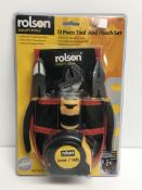 A Rolson 12 piece tool and pouch set